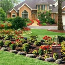 front yard flower beds bed landscaping ideas design flowers amys