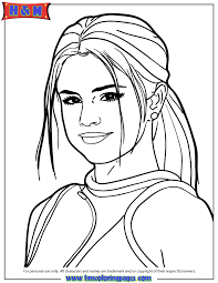 selena gomez coloring pages coloring home
