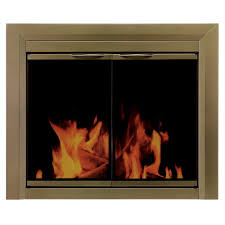 pleasant hearth cahill large glass fireplace doors ca 3202 the