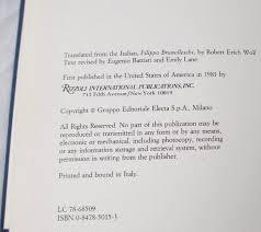 filippo brunelleschi eugenio battisti 9780847850150 amazon com