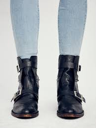 short black moto boots free people outsiders moto boot in black lyst