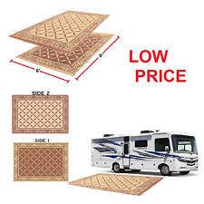 rv outdoor rug 9x12 indoor patio deck camper green mat reversible