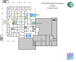 Humboldt State University Map by Library Floor Maps Library Humboldt State University