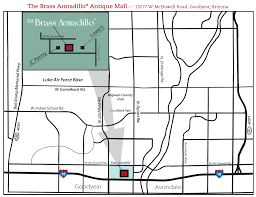 Map Phoenix Area by Map To Phoenix West Brass Armadillo Antique Mall