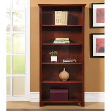 Cherry Wood Bookcase With Doors Backyards Ameriwood Shelf Wood Bookcase Cherry Masteramw291 With