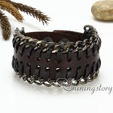 buckle leather bracelet images Genuine leather wristbands handmade leather bracelets with buckle jpg