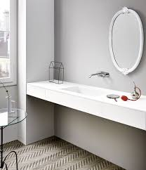top corian wall mounted washbasin rectangular corian皰 contemporary