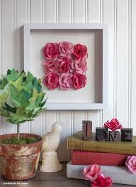 Paper Rose Topiary - paper rose wall art paperpapers blog
