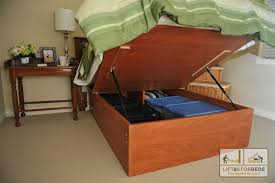 Platform Bed Designs With Storage by Woodworker Com Storage Bed Frame And Lift Kits Queen With Bed