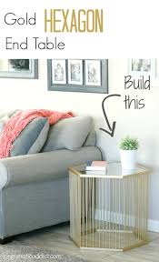 Build A End Table Plans by Pneumatic Addict Gold Hexagon End Table