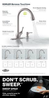 Touchless Kitchen Faucets by Kohler Barossa With Response Touchless Technology Single Handle