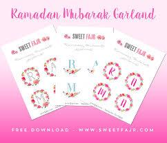 ramadan crafts free printable ramadan mubarak garlands sweet fajr