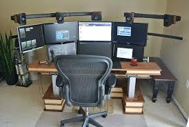 Dual Monitor Computer Desks Multi Monitor Computer Desk Desk Multi Monitor Desk