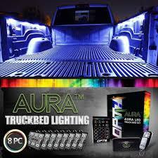 led lights for pickup trucks aura led truck bed pod lighting kit multi color with remotes opt7