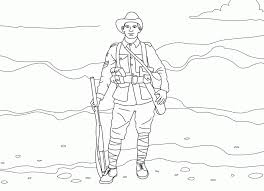 soldier with a weapon coloring pages picture 23 military army