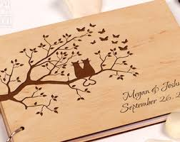 engravable wedding guest book custom wedding guest book wood rustic wedding guest book