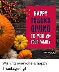 happy thanks giving to you your family marcorubio us senate