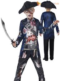 Zombie Boy Halloween Costume Deluxe Boys Zombie Pirate Costume Halloween Fancy Dress Party Kids