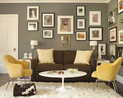 paint colors for living room walls with brown furniture photos on