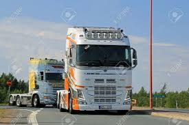 truck volvo 2014 lempaala finland august 7 2014 swedish show truck volvo