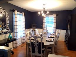 Dining Room Accent Wall by Dining Room Ci Thibaut Navy Wallpaper Linen Slipper Chair 2017