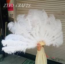 ostrich feather fans big ostrich feathers fan with bamboo staves for belly