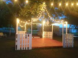 Outdoor Backyard Wedding Ideas by Best 25 Backyard Wedding Lighting Ideas Only On Pinterest Ping