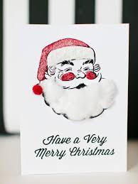 printable christmas cards to make kids craft printable santa holiday card hgtv