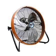 maxxair heavy duty 14 exhaust fan maxxair 20 in 3 speed shroud floor fan with orange housing hvff 20s