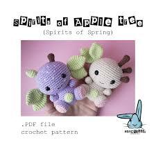 pattern language digital spirits of apple tree spirits of spring amigurumi crochet pattern