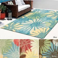 Floral Outdoor Rug 7 Best Indoor Outdoor Rugs Images On Pinterest Blue Ivory Blue
