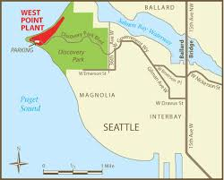 seattle map discovery park map west point treatment plant seattle wa king county