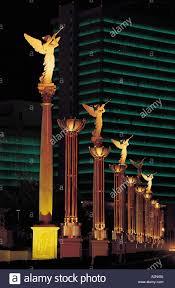 angel sculptures on columns in row caesars palace las vegas