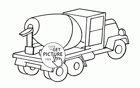 cement mixer truck coloring page for kids transportation coloring