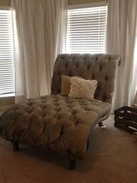 tufted double chaise lounge chair in our master bedroom different