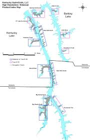 map kentucky lakes rivers kentucky hydrografx kentucky and barkley lake maps