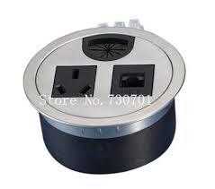 Office Desk Power Sockets Rj45 Power Office Desk Power Socket Grommet Outlet Silver And