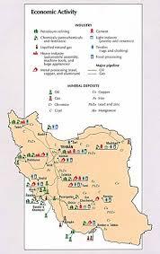 map or iran iran economic activity map iran mappery