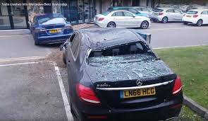tesla dealership tesla model s mangles mercedes e class british dealership in