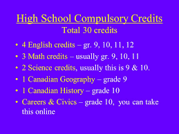 canadian high school online park high school course selection process parent information