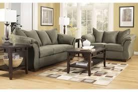 3 piece living room furniture ashley darcy sage 2 pc living room set 7500338 7500335 home