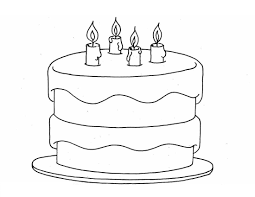birthday cake coloring page for kids download coloring pages cake
