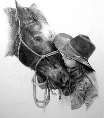 horse and cowboy art 14 pencil make an inquiry about this