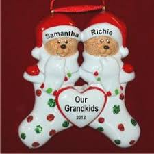 Grandparent Ornaments Personalized Santa U0027s Love For Baby Personalized First Christmas Ornament