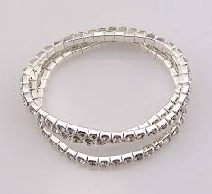 bracelet elastic silver images 3 sets of swarovski artificial diamond bracelet rhinestone jewelry JPG