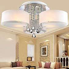 loco acrylic chandelier with 3 lights chrome finish flush mount