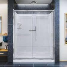 Acrylic Shower Doors Acrylic Shower Stalls Kits Showers The Home Depot