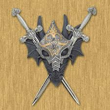 Medieval Dragon Home Decor Wholesale Medieval Armored Dragon Crest Wall Decor Removable Swords