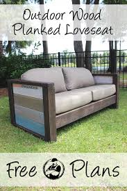 diy planked wood outdoor loveseat wood planks woods and rogues