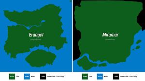 pubg miramar miramar erangel size comparison pubattlegrounds